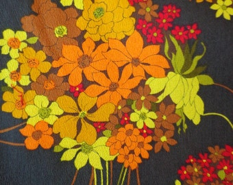 Vintage Hawaiian Textiles in Brilliant Colors, THC Hawaiian Texiles #12565, Crepe Like