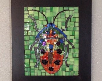 Stained Glass Mosaic Beetle Bug