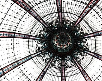 Galeries Lafayette, Paris Photography, Large Wall Art, Abstract, Neutral, Paris Print, Architecture, Paris Wall Decor