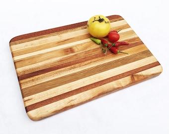 "Handmade Wood Cutting Board - Beautifully Rustic - Cherry, Mahogany, Maple, White Oak -  13"" x 9"" x 7/8"""
