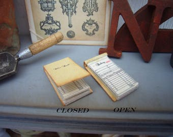 1/12 Scale Sales Pad/Receipt Pad for Dollhouse