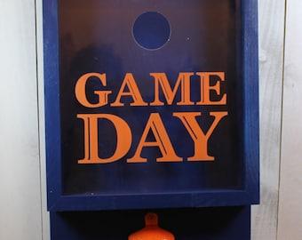 Game Day/Bottle Cap Holder/Bottle Opener/Team Colors/Beer Decor/Bar Decor/Father's Day/Man Gift/Engraved/Colors/Christmas Gift/Bears/Broncos