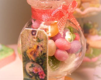 12th Scale Doll house Jar Of Sugared Candy Easter Eggs