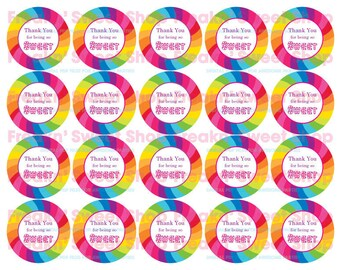 "Candy Land ""Thank You"" Tags PDF file"