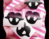 Vinyl Decal Love Bites Vampire Kiss Fangs Sticker Sticker  Stickers Creepy Cute