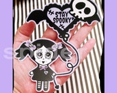 Planner Stickers Large Scary Cupcake Glossy  Sticker  Gothic Doll Dolly Stickers Spooky Cutie Dolly Love Dashboard Sticker