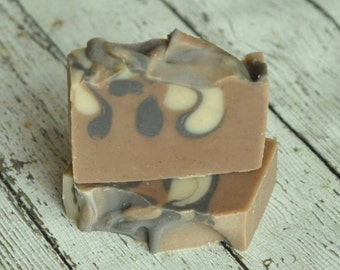 Sandalwood Patchouli Cedarwood Soap - Shea Butter Soap - Vegan Soap - Man About Town