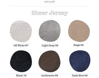 Color Card / Sheer Jersey Fabric / Colors / Color Variations / marcellamoda - MA1000