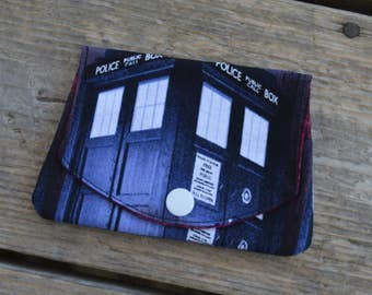 Dr. Who Blue Tardis grab-n-go credit card wallet