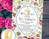 Fiesta Baby Shower Invitation, Fiesta Invitation, Fiesta Birthday Party Invitation, Mexican Invite, DIY, Printable or Printed Invitations