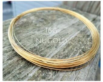 NuGold Brass Wire 16 Gauge Round Dead Soft 5-50 Feet