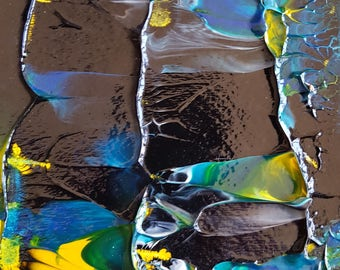 Night Shadow Abstract Painting