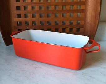 Vintage DANSK Loaf Pan Red Kobenstyle Baking Ware 1960s 70s Jens Quistgaard Design Danish Modern MCM Retro Mid Century Kitchen Prop Styling