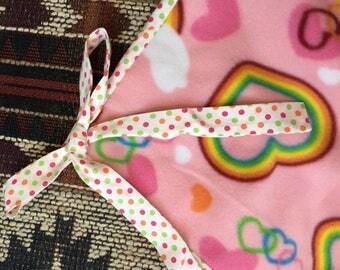 Rainbow heart blanket