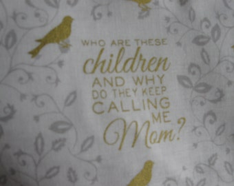 why do they keep calling me mom washable fabric tote bag, shopping bag