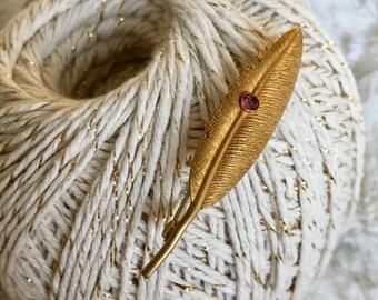 Victorian Era Antique Feather Brooch