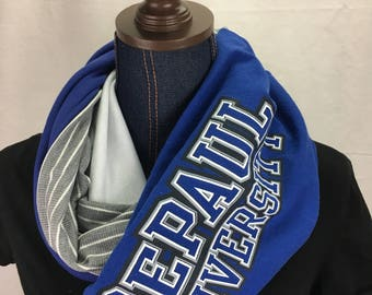 DePaul University Recycled T Shirt Infinity Scarf