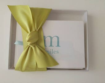 Stationery Gift Set Personalized with Modern Single Initial and Name in Custom Colors Set of 12 in Gift Box