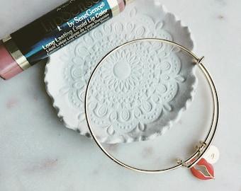 Lipsense bangle, lipboss, pretty modern jewelry