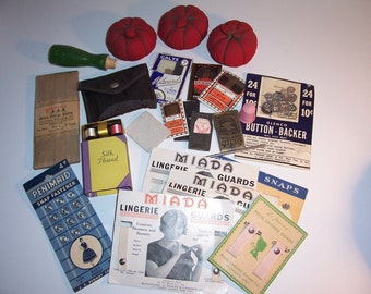 Antique/Vintage SEWING LOT - Tomato Pincushions - England Needles - Old Advertising - No Damage - USA Shipped Insured - Will Ship Int'l