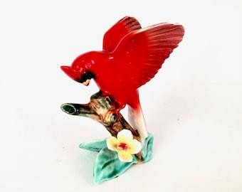 Vintage Red Cardinal porcelain Figurine