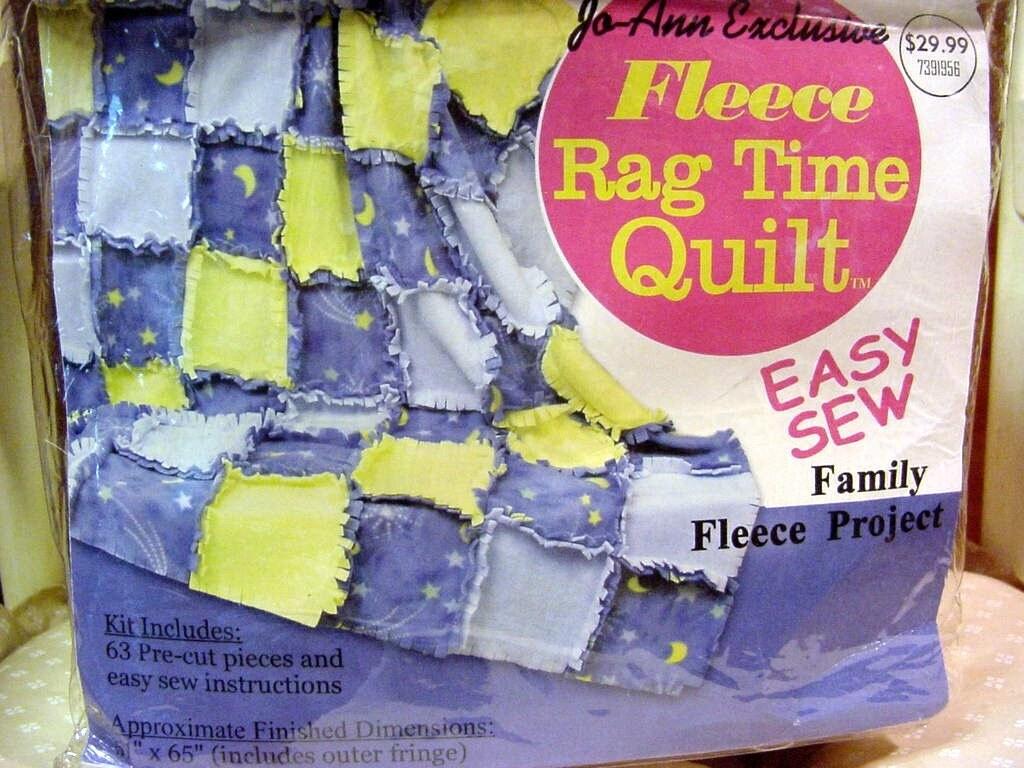 Easy fleece rag quilt kit yellow moon stars on blue 63 for Moon and stars fleece fabric