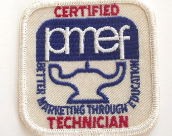 Vintage Workers Patch, Red, White and Blue PMEF Patch