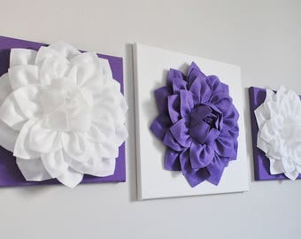 Lavender Flower Wall Art, Floral Sculpture Lavender, Purple Nursery,  Bathroom, Office, Bedroom, Kitchen Wall Decor, Baby, Toddler, Girl Art