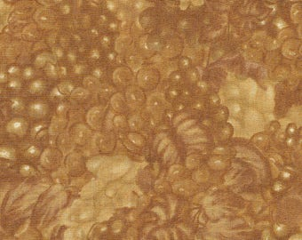 Bottled Poetry Gold Grapes - Wilmington Prints - .75 yard