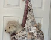 Comfort Dog Carrier, Dog Sling Reverisible Paris combo, new print, made in USA