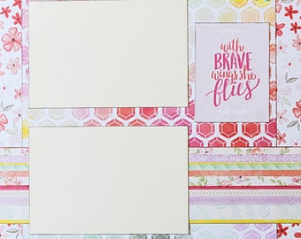 Brave - Basic Premade Scrapbook Page 12x12 Layout for Album