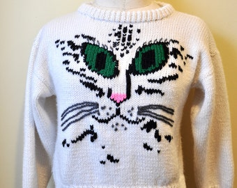 Vintage Extra Small Cat Sweater