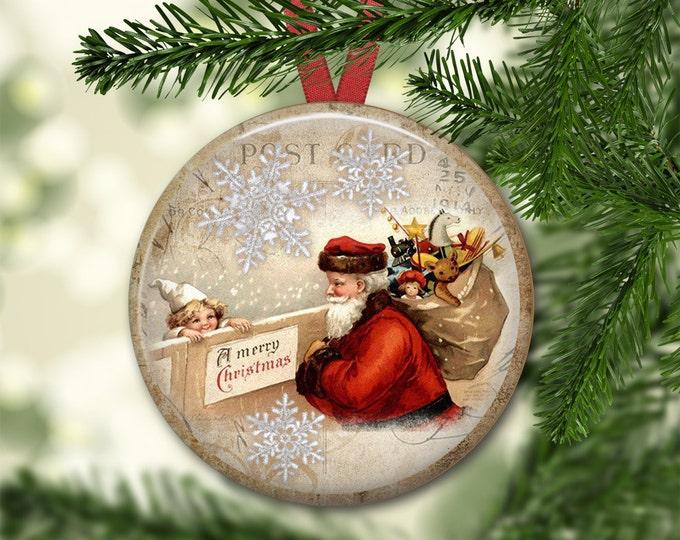 Christmas home decor - Santa Claus decorations for Christmas - holiday magnets - Christmas refrigerator magnets - MA-1346