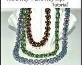 This a Way~That a Way Rope 2 hole bead rope design superduos diamonduos miniduos 2 hole lentils or 2 hole triangles beading pattern