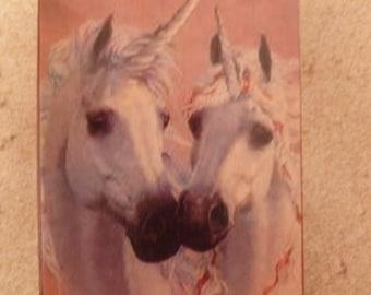 Two Unicorns - Art Block