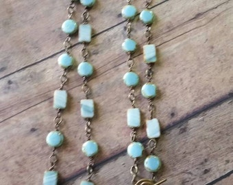Beachy Boho necklace/ Baby Blue Bliss