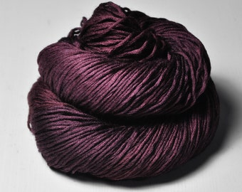 Burgundy ice rose - Silk/Cashmere Fingering Yarn
