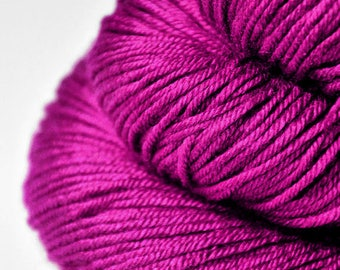 Electric light purple - Silk/Merino DK Yarn superwash