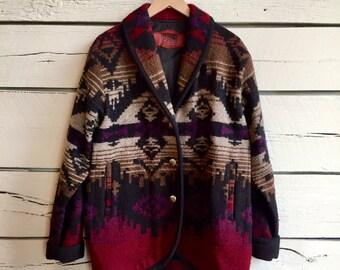 Vintage 1980s ladies WOOLRICH southwestern jacket • 80s jacket • womens 80s coat