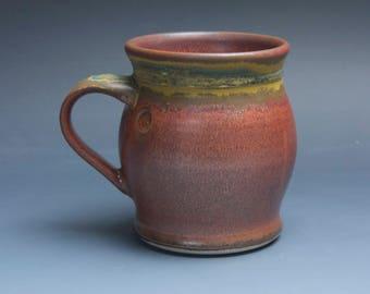 Handmade pottery coffee mug, ceramic mug, stoneware tea cup 16 oz mug  3888