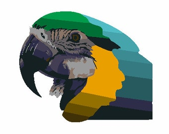 Exotic parrot digital embroidery design, Parrot digitized embroidery design