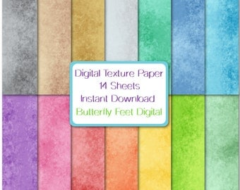 Digital Texture Paper, 14 Designs, Abstract Art, Textured Background, Instant Download