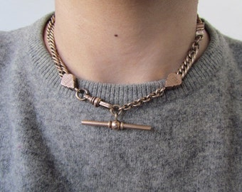 RECONSTRUCTED- Victorian Watch Chain Choker Necklace