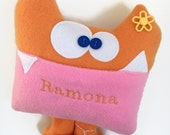 Tooth Fairy Pillow- Kids Monster Plush - Soft Monster Plush - Personalized Tooth Fairy Pillow - Monogrammed - Tooth Chart - Funny Kids Toy
