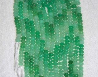 Chrysoprase, Chrysoprase Rondelle, Smooth Rondelle, Natural Stone, Semi-Precious, Gemstone Rondelle, Mint Shades, Grade A, Full Strand, 7mm