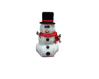 Plastic Canvas Snowman Candy Dish Instant Download