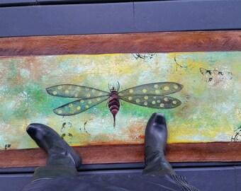 Dragonfly from Salt Spring Island - Floor Art