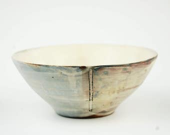Bowl with White Rectangles