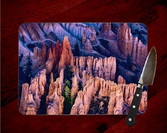 Bryce Canyon View Photo Glass Cutting Board, Hoodoos,  Chopping Board, Hot Pad Trivet, Cheese Serving Tray, Art, Utah Bryce Art, Bryce Print