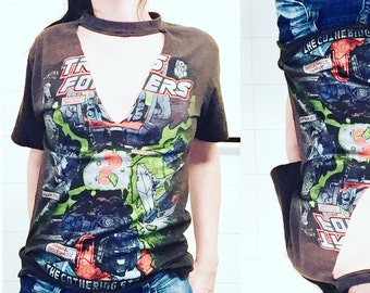TRANSFORMERS cut out tee
